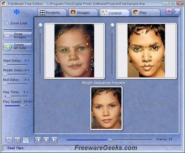 Screenshot of Fotomorph Free Edition